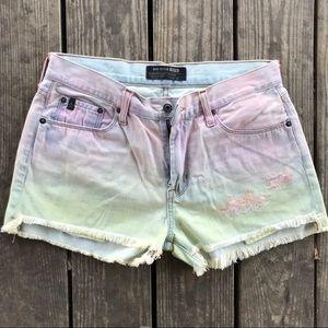 Ombred big star shorts medium